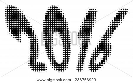 2016 Year Halftone Vector Pictogram. Illustration Style Is Dotted Iconic 2016 Year Icon Symbol On A