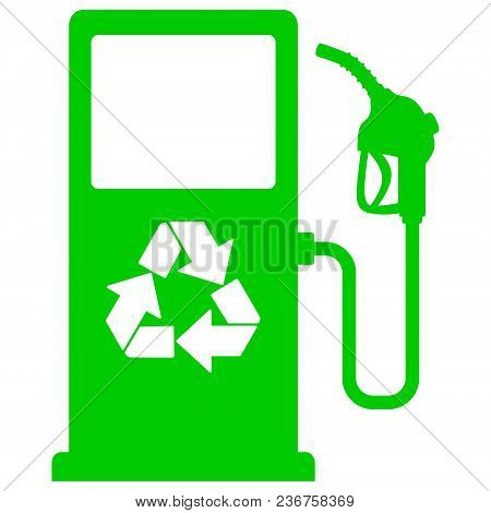 Bio Fuel Pump Icon - A Vector Cartoon Illustration Of A Bio Fuel Gas Pump Concept.