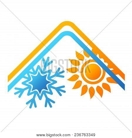 Air Conditioning And Ventilation House Design Vector