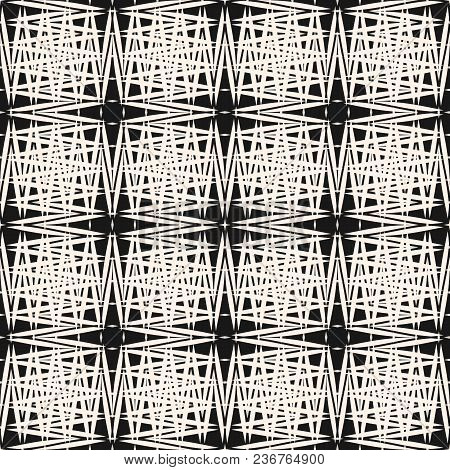 Cross Hatch Pattern. Abstract Seamless Texture With Thin Scratch Lines, Intersecting Stripes. Simple