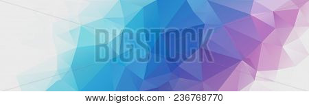 Abstract Multicolored Polygon, Low Polygon Background. On A White Background. All The Colors Of The