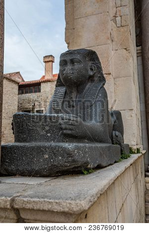 Egyptian Sphinx Diocletian's Palace Split Croatia