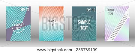 Cover Design, Magazine Size A4. Future Vector Template From Abstract Lines To Create A Fashionable A