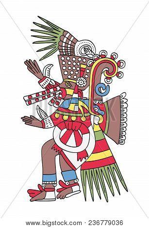 Tezcatlipoca, The Smoking Mirror. God Of Magic And Darkness. Twin Brother Of Quetzalcoatl. Deity As