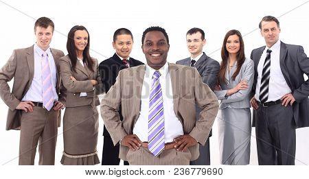 boss of a multinational business team
