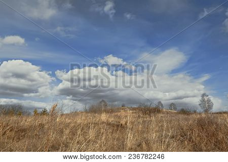 Landscape Early Spring In The Ural Mountains