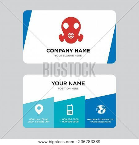 Respirator Business Card Design Template, Visiting For Your Company, Modern Creative And Clean Ident