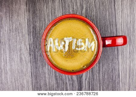 Conceptual Hand Writing Showing Autism. Business Photo Text Autism Awareness Conducted By Social Com