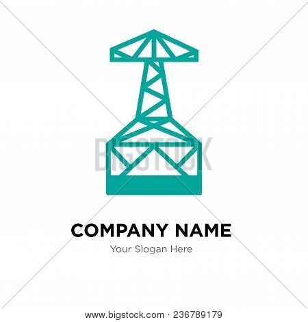 Oil Derrick Company Logo Design Template, Business Corporate Vector Icon