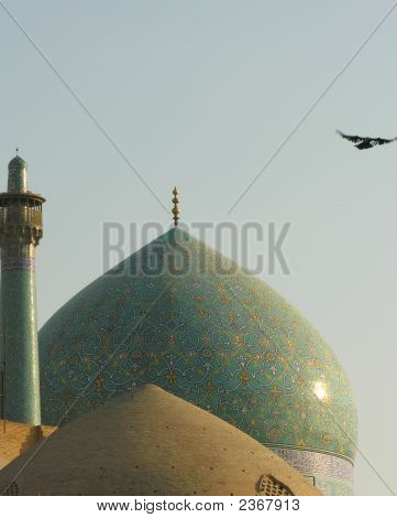 Domes And Minaret, Imam Square, Isfahan / Esfahan