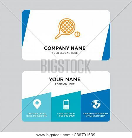 Table Tennis Business Card Design Template, Visiting For Your Company, Modern Creative And Clean Ide