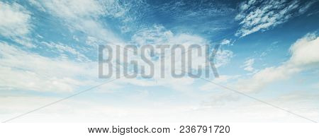 Sky And Clouds Tropical Panorama. Nature Background