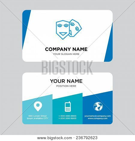 Theater Business Card Design Template, Visiting For Your Company, Modern Creative And Clean Identity