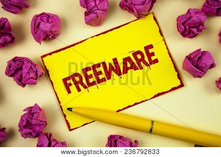 Conceptual Hand Writing Showing Freeware. Business Photo Text Software Application That Is Available