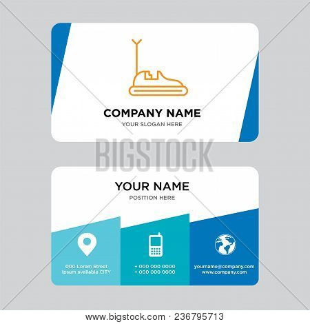Bumper Car Business Card Design Template, Visiting For Your Company, Modern Creative And Clean Ident