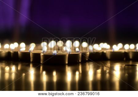 Background With Glowing Candles , Armenian Genocide Remembrance Day