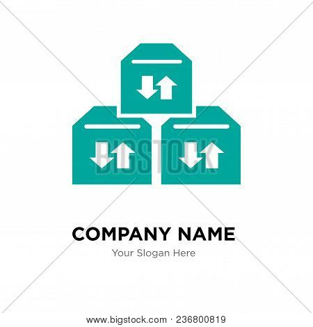 Three Sto Boxes For Delivery Company Logo Design Template, Business Corporate Vector Icon