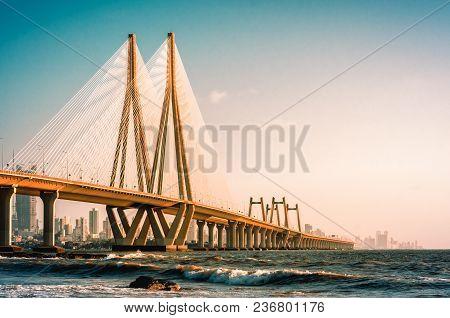 View Of Bandra Worli Sea Link, Mumbai