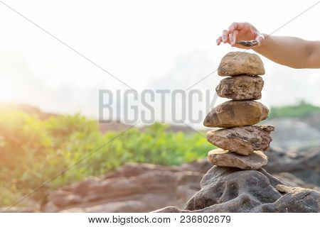 Balance And Harmony Stone Stack, The Difference Always Outstanding And Put On Top, Stone, Balance, R