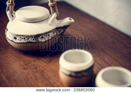 Japanese culture tea pot set