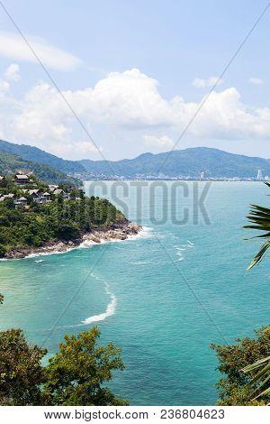 Beautiful Landscape View Mountain And Andaman Sea