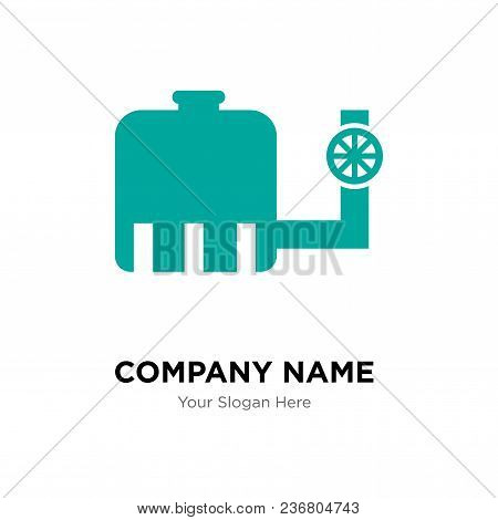 Water Tank Company Logo Design Template, Business Corporate Vector Icon