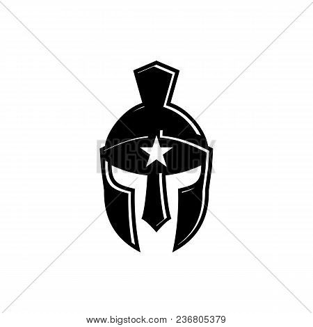 Spartan Helmet Logo, Antiques Spartan Warrior Helmet Vector Design. And Spartan Star Helmet.
