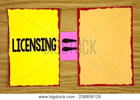 Conceptual Hand Writing Showing Licensing. Business Photo Text Grant A License Legally Permit The Us