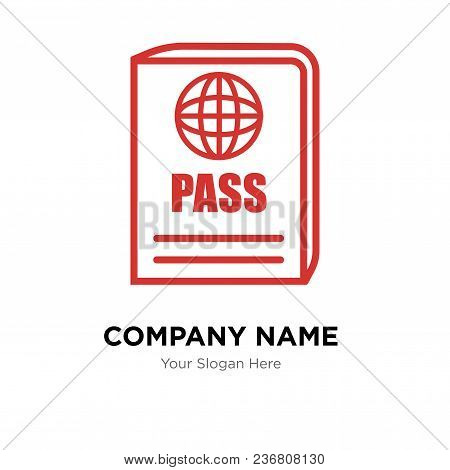 Passport Company Logo Design Template, Business Corporate Vector Icon