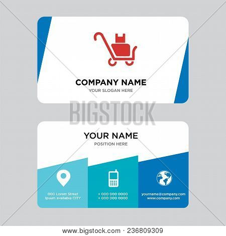 Delivery Packages On A Trolley Business Card Design Template, Visiting For Your Company, Modern Crea