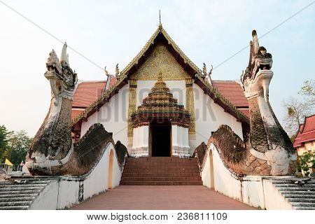 Nan, Thailand : This Building Is The Buddhist Temple In Wat Phumin