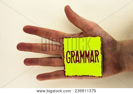 Word Writing Text Grammar. Business Concept For System And Structure Of A Language Correct Proper Wr