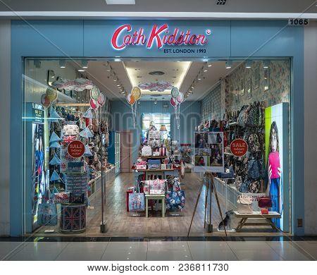 Cath Kidston Shop At Fashion Island, Bangkok, Thailand, Mar 22, 2018 : Fashionable Brand Of Bags And