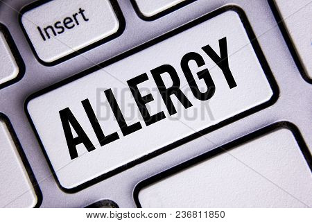 Text Sign Showing Allergy. Conceptual Photo Damages In Immunity Due To Hypersensitivity Get It Diagn
