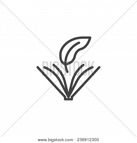 Opened Book With Ink Feather Outline Icon. Linear Style Sign For Mobile Concept And Web Design. Book