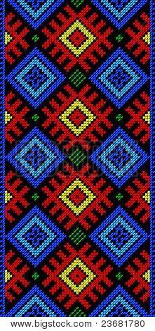 Folk Rectangular Frame Cross-stitch On Black (1).eps
