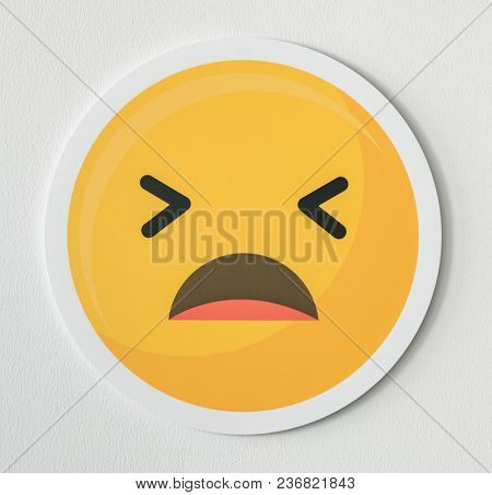 Disappointed emoticon emoji face icon
