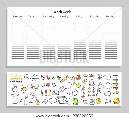 work week daily plan vector photo free trial bigstock rh bigstockphoto com Funny Schematic Detail Funny Daily Routine Schematics