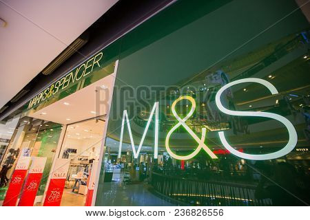Chiangmai, Thailand - June 16 ,2017: Marks&spencer Shop Sign, This Branch Is Located In Central Fest