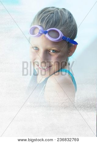 Child at Swimming pool with transition