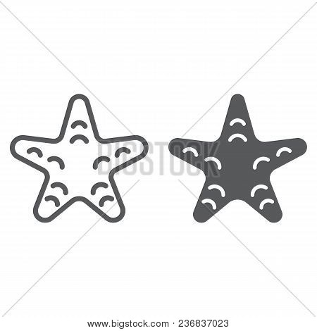 Starfish Line And Glyph Icon, Animal And Underwater, Aquatic Sign Vector Graphics, A Linear Pattern