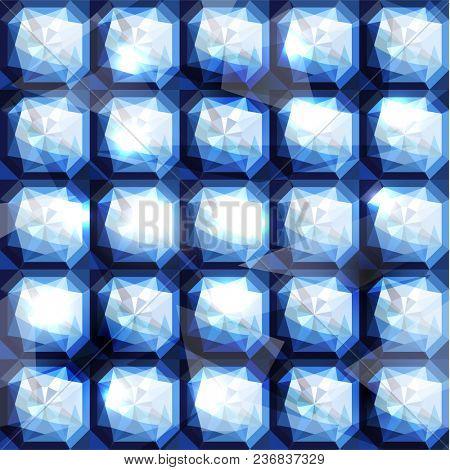 Seamless diamond bejeweled background - raster version