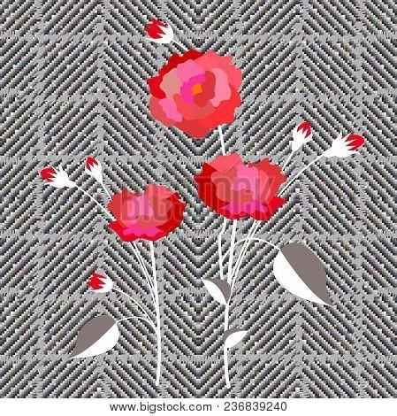 Seamless Tweed Pattern With English Motifs. Textile Design For School Uniform, Plaids, Scarfs. Brigh
