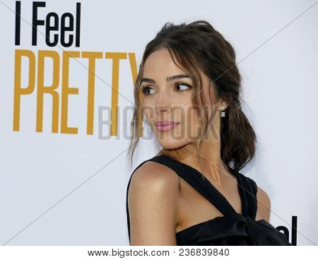 Olivia Culpo at the Los Angeles premiere of 'I Feel Pretty' held at the Regency Village Theatre in Westwood, USA on April 17, 2018.