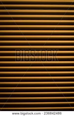 Blinds, Jalousie, Arching, Yellow Blinds, Window Can Be Seen Through Open Jalousie