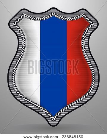 Flag Of Russia. Vector Badge And Icon