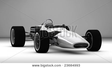 racing sports car concept in retro style