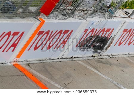 April 15, 2018 - Long Beach, California, USA: The Verizon IndyCar Teams take to the track for the Toyota Grand Prix of Long Beach at Streets of Long Beach in Long Beach, California.