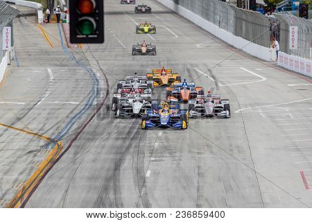 April 15, 2018 - Long Beach, California, USA: Alexander Rossi (27) wins after dominating the Toyota Grand Prix of Long Beach race at the Streets of Long Beach in Long Beach, California.