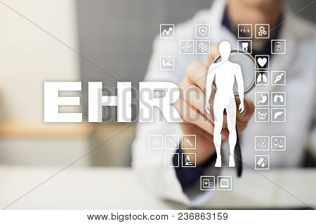 Ehr, Emr, Electronic Health Record. Medical And Technology Concept